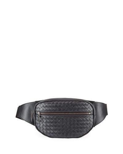 Men's <em>Intrecciato</em> Leather Belt Bag