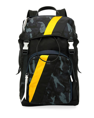 Men's Tessuto Camouflage Stripe Backpack