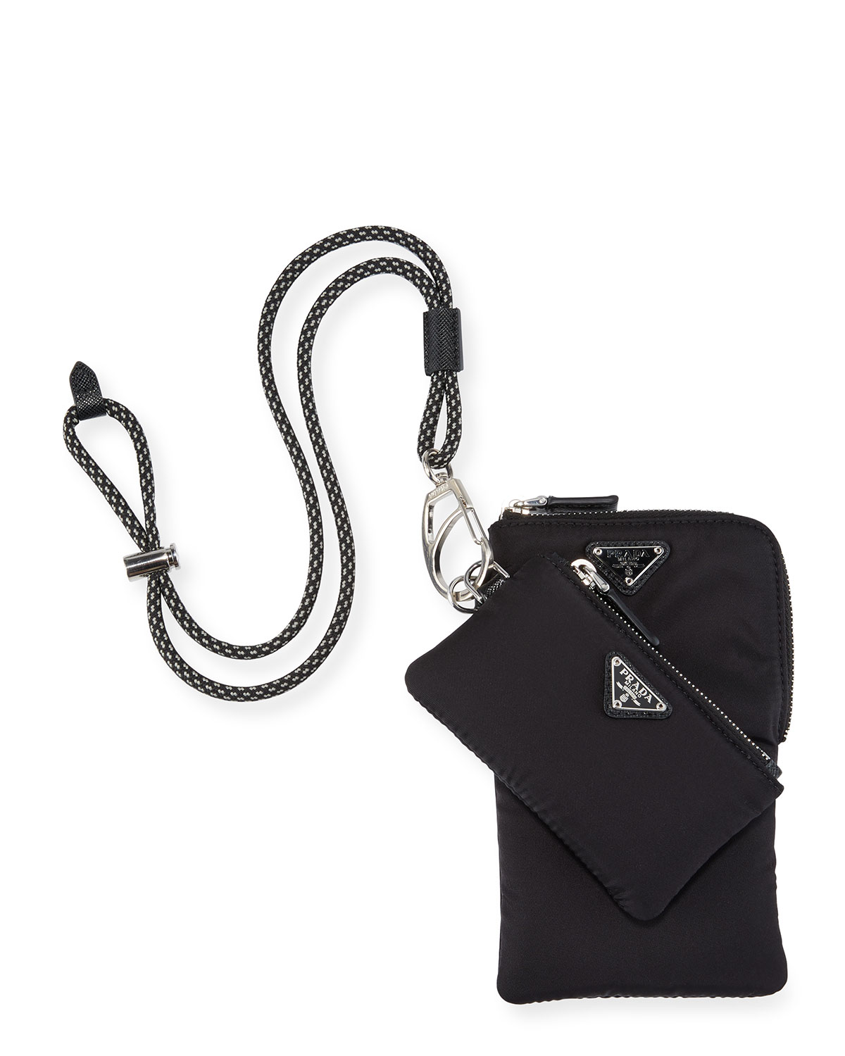Prada Accessories MEN'S TWO-POUCH TRICK NECKLACE