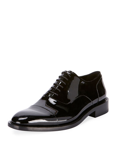 Men's Chrystal Patent Leather Oxford Shoes