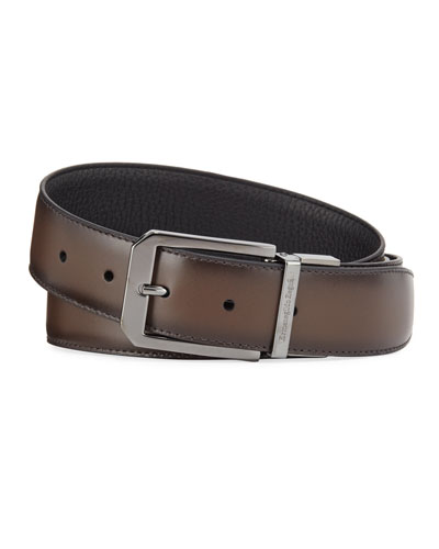 Men's Reversible Calf Leather Belt