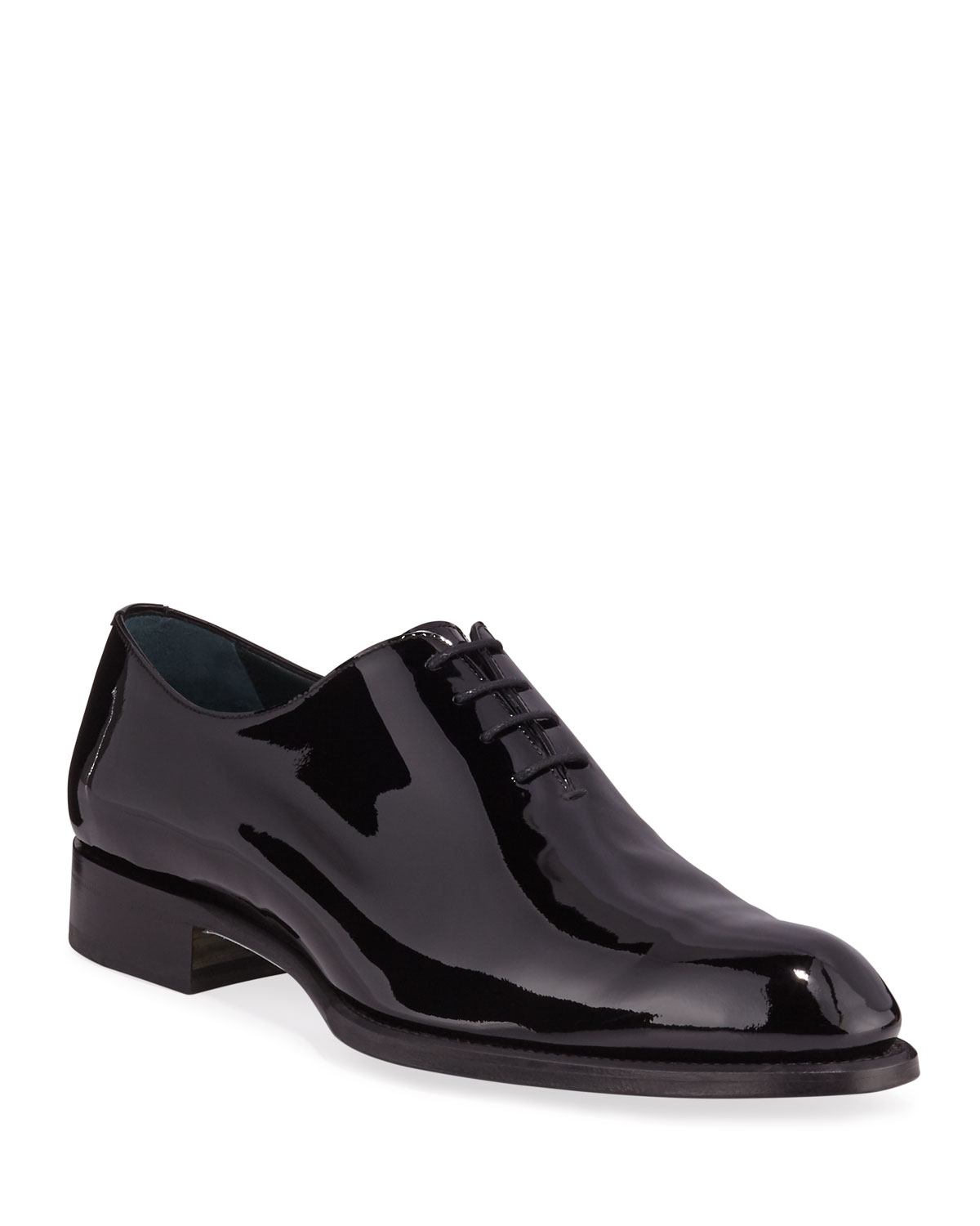 Brioni Dresses MEN'S CARDINAL WHOLE-CUT PATENT LEATHER DRESS SHOES