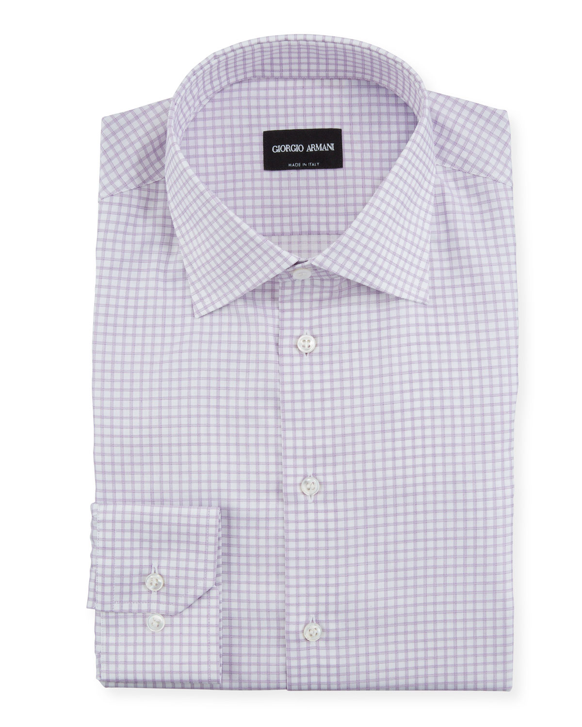 Giorgio Armani Dresses MEN'S GRAPH-CHECK DRESS SHIRT