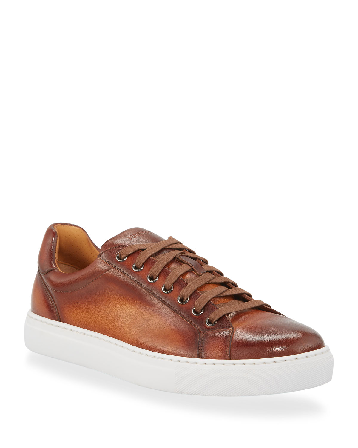 Magnanni Sneakers MEN'S NAPA LEATHER LOW-TOP SNEAKERS