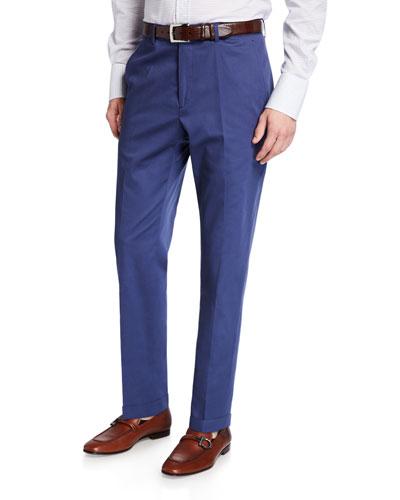 Men's Gabardine Straight-Leg Dress Pants