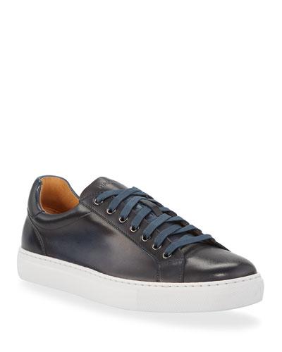 Men's Low-Top Leather Napa Sneakers
