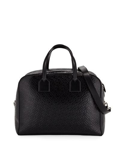 Men's Medium Leather Monogram Bowling Tote Bag