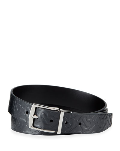 Men's Clarke Logo-Embossed/Smooth Leather Reversible Belt