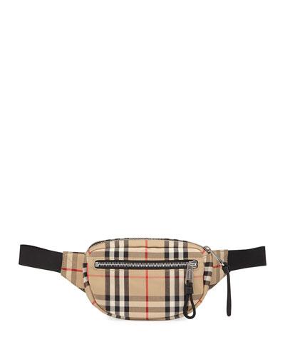 Men's Vintage Check Belt Bag/Fanny Pack