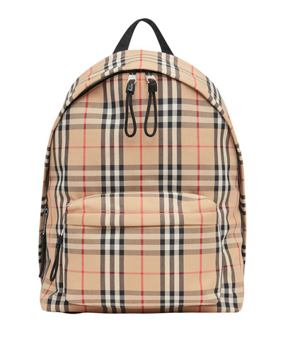Men's Vintage Check Backpack