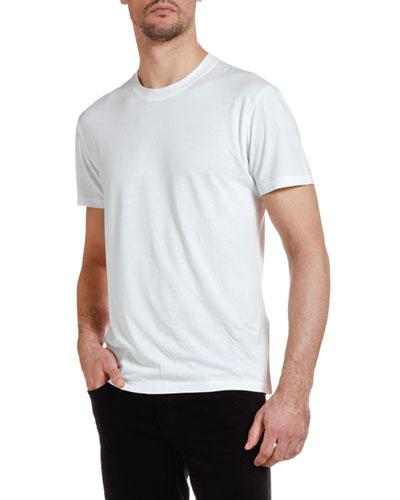 Men's Solid-Knit Crewneck T-Shirt, White
