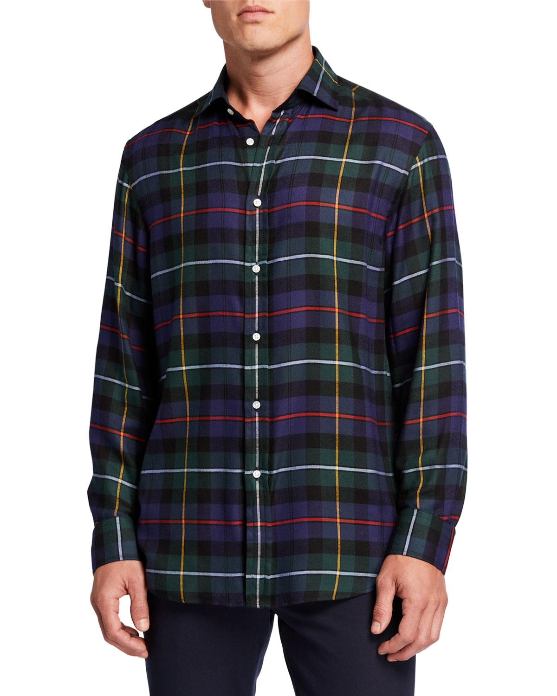 Ralph Lauren T-shirts MEN'S TARTAN PLAID SPORT SHIRT