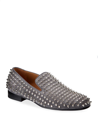 Men's Rollerboy Spike-Studded Red Sole Loafers