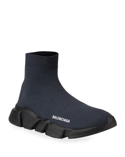 Men's High-Top Knit Sock Sneakers