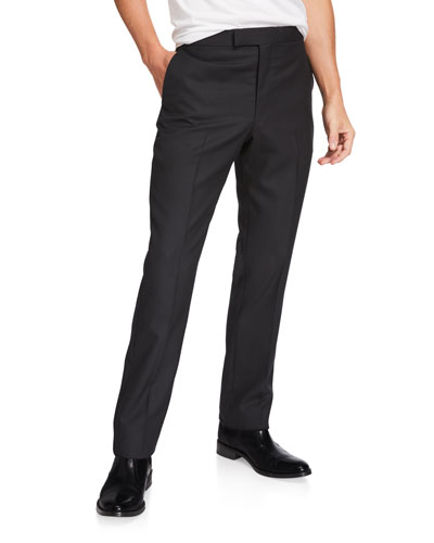 Men's Isaac Straight-Leg Wool Pants