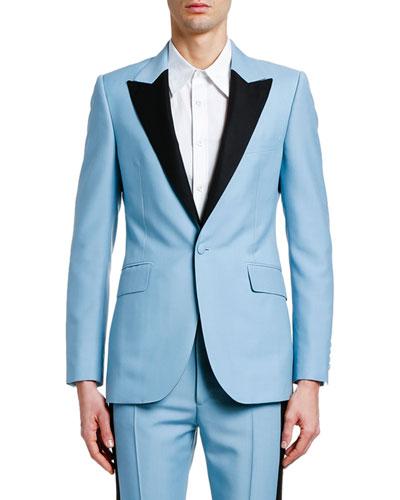 Men's Contrast-Lapel Tuxedo Jacket