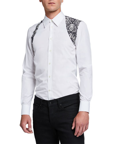Men's Harness Lace-Print Sport Shirt