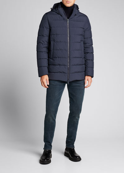 Men's Wind-Resistant Puffer Coat