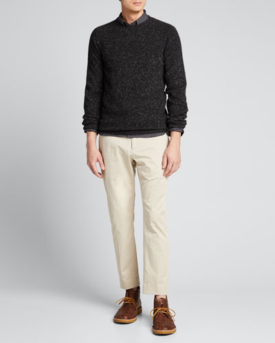 Men's Cashmere Donegal Knit Sweater