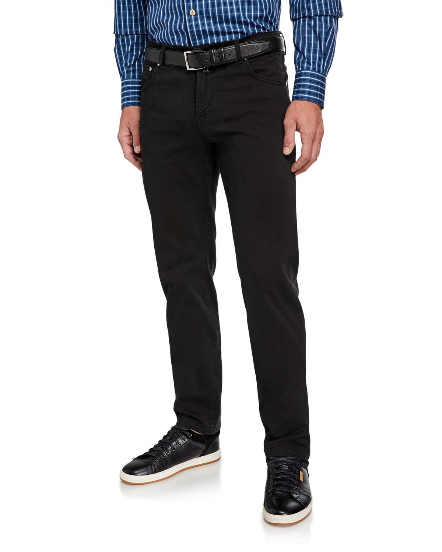 Kiton Pants MEN'S TWILL STRAIGHT-LEG PANTS