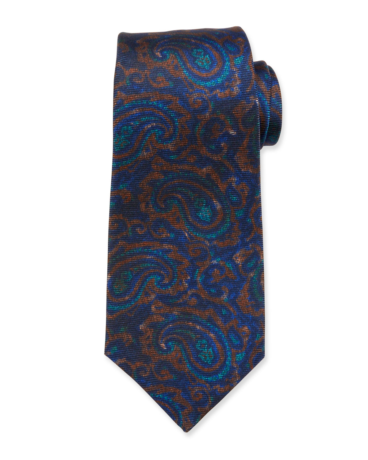 Kiton Ties ANTIQUE PAISLEY SILK TIE