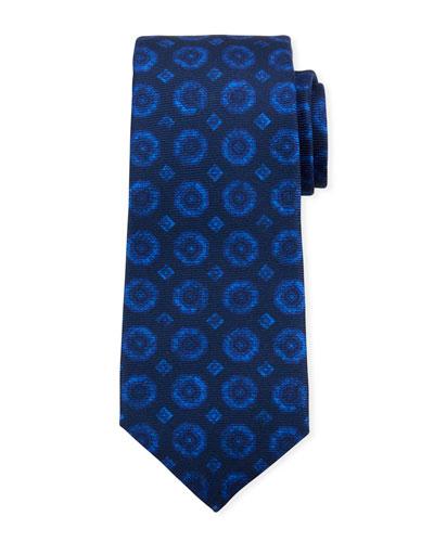 Men's Octagons Silk Tie