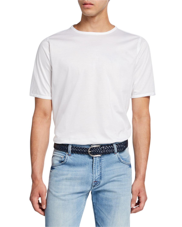 Kiton T-shirts MEN'S SHORT-SLEEVE CREWNECK COTTON T-SHIRT