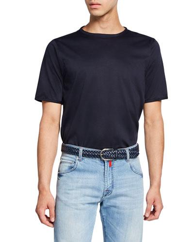 Men's Crewneck Short-Sleeve Cotton T-Shirt, Navy