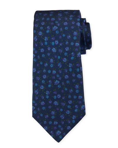 Men's Mini Floral Silk Tie