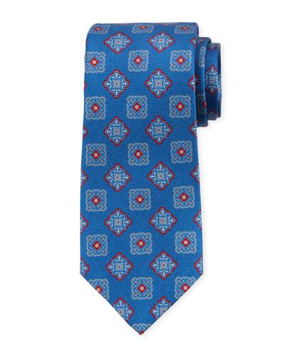 Men's Alternating Boxes Silk Tie
