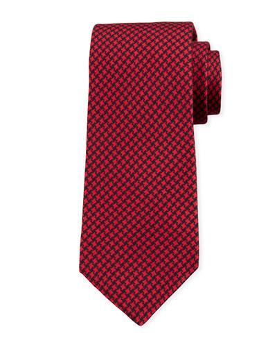 Men's Houndstooth Silk Tie