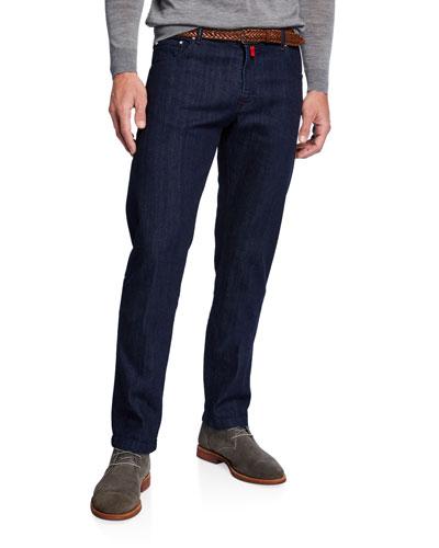 Men's Dark-Wash Slim-Leg Jeans