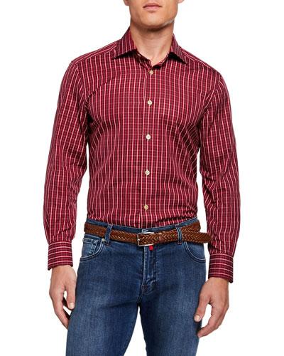 Men's Long-Sleeve Check Sport Shirt