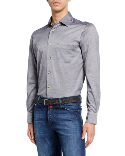 Men's Jersey Cotton Shirt, Gray