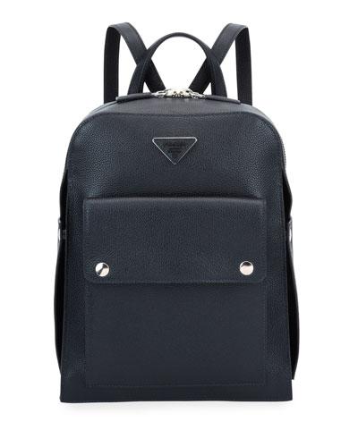 Men's Medium Soft Leather Backpack
