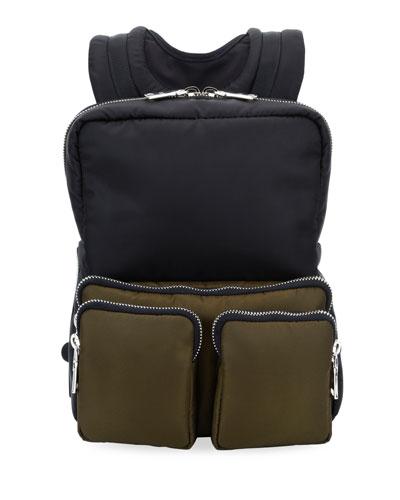 Men's Medium Boxy Nylon Backpack
