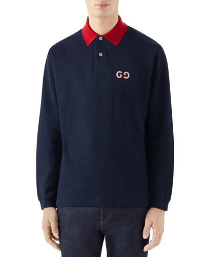 Men's GG Long-Sleeve Polo Shirt