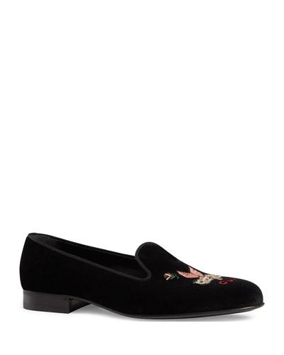 Men's Glauco Pig Velvet Slippers