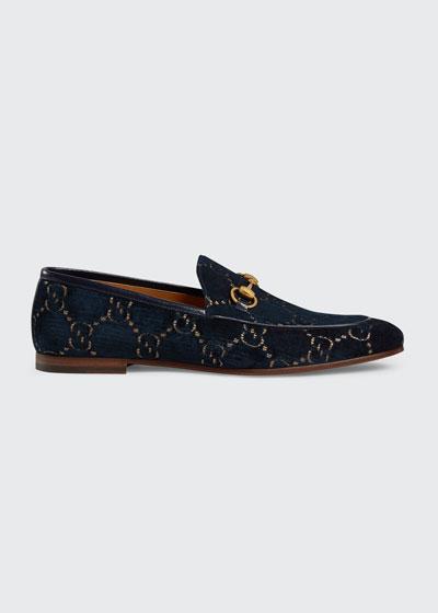 Men's New Jordaan Metallic G Velvet Loafers