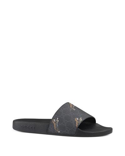 Men's Pursuit Printed Tiger Slide Sandals