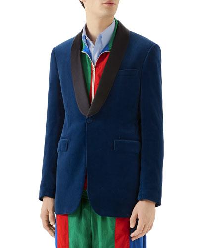 Men's Velvet Tuxedo Dinner Jacket