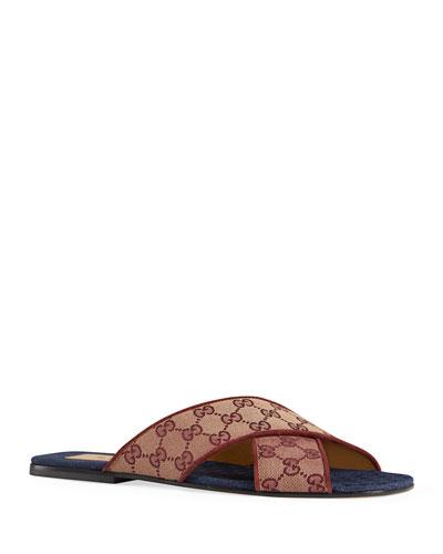 Men's GG Canvas Slide Sandals
