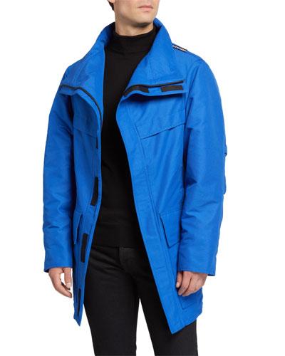 Men's High-Neck Zip-Front Puffer Coat