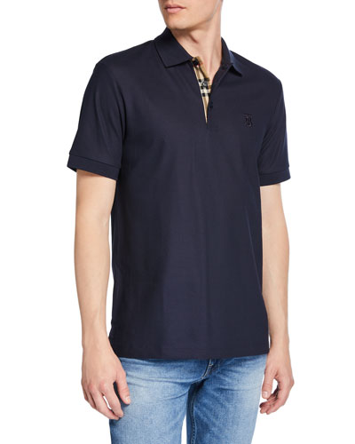 Men's Eddie Pique Polo Shirt, Navy