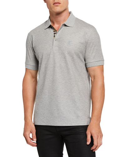 Men's Eddie Pique Polo Shirt, Gray