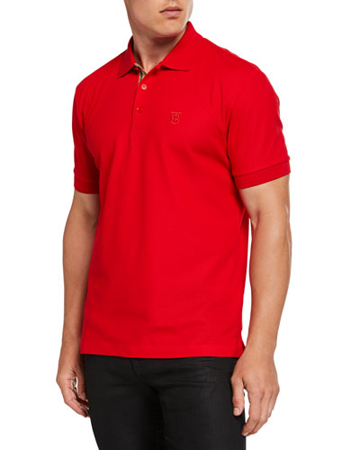 Men's Eddie Pique Polo Shirt, Bright Red