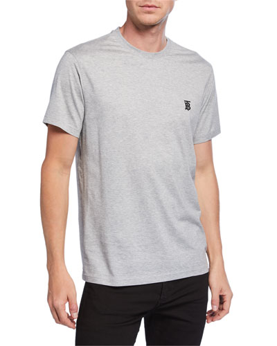 Men's Parker Logo-Embroidered T-Shirt, Gray