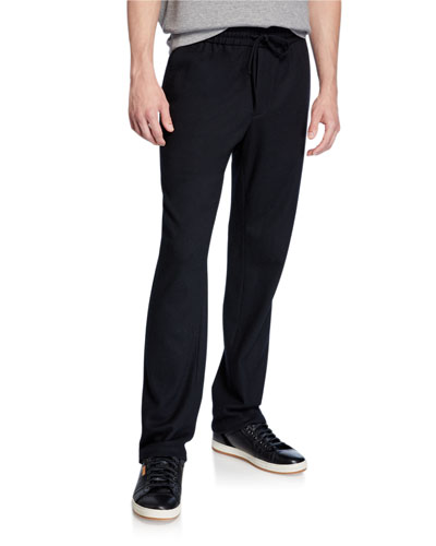 Men's Wool-Blend Track Pants