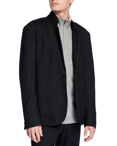 Men's Wool-Blend Blazer