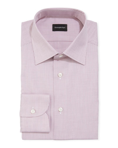 Men's Microcheck Cotton Dress Shirt